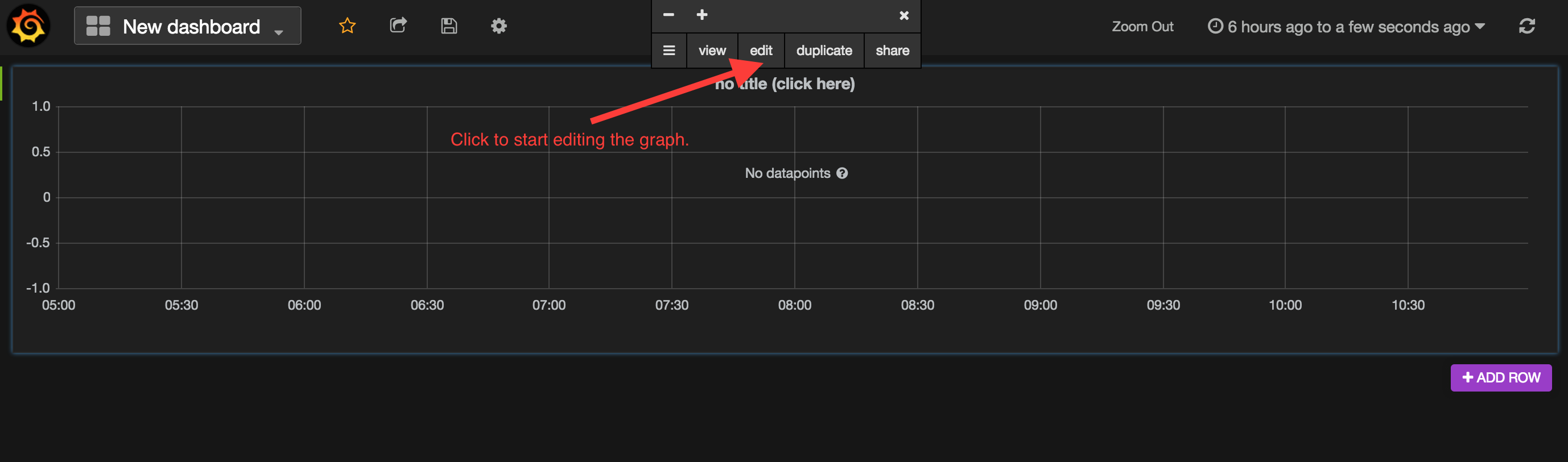 Grafana Creating a Graph