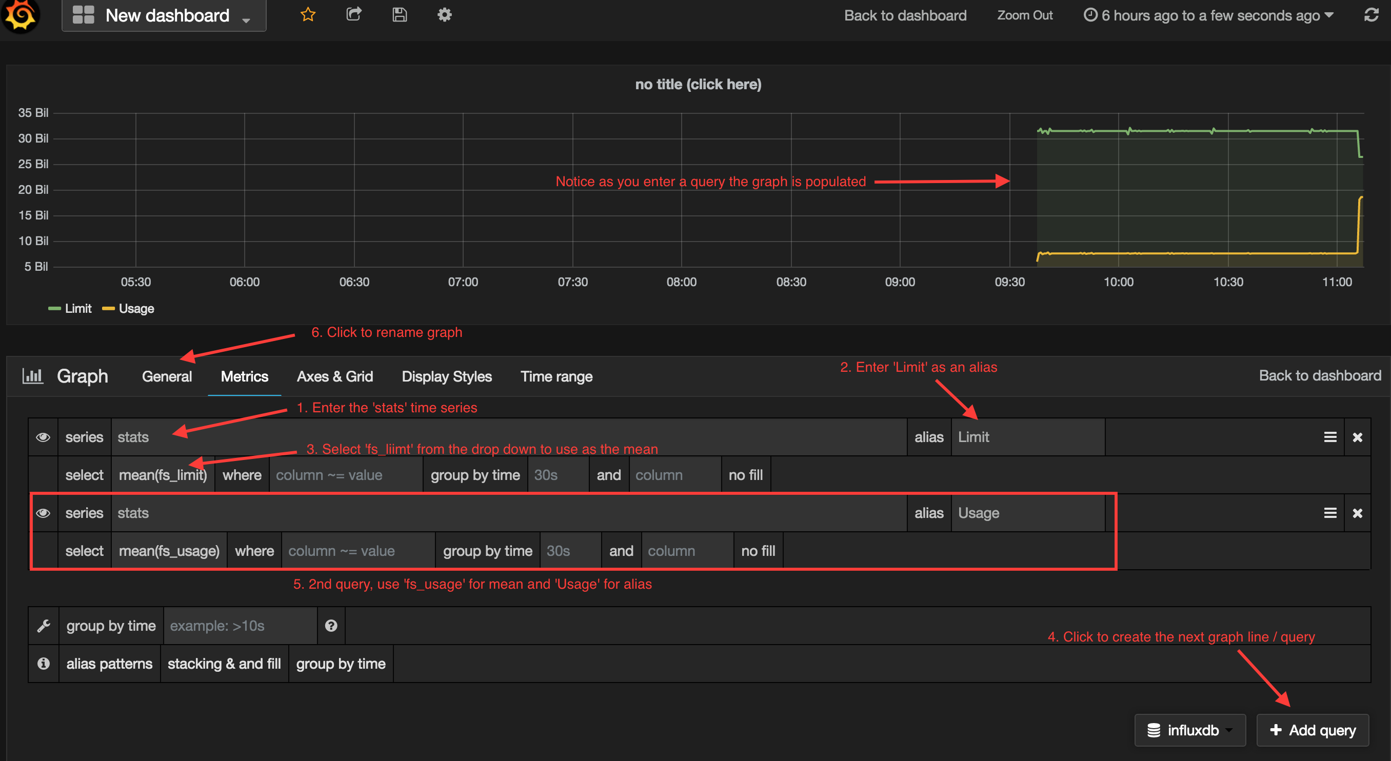 Grafana Writing a Query